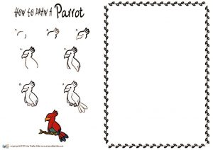 thumbnail of HOW to draw a Parrot NEW