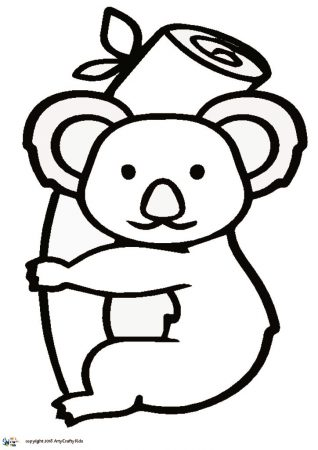 Koala Outline Arty Crafty Kids