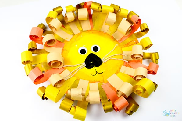 Arty Crafty Kids | Craft | Curly Paper Plate Lion Craft