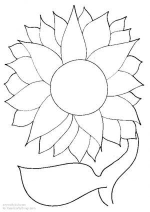 thumbnail of Sunflower Black Glue Printable