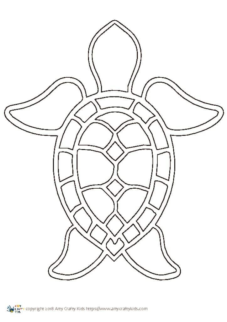 Turtle Outline 2 | Arty Crafty Kids
