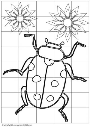 thumbnail of Lady Bug Cube Template