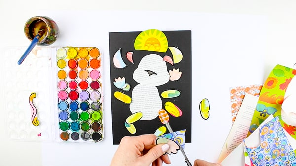 Arty Crafty Kids | Art | Monkey Paper Art for Kids - A fun cut, stick and assemble craft for kids. With the aide of our template, kids can create interchangable monkeym adding personality to their art #kidsart #artforkids #templates #craftideasforkids #craftsforkids #kidscrafts #papercrafts