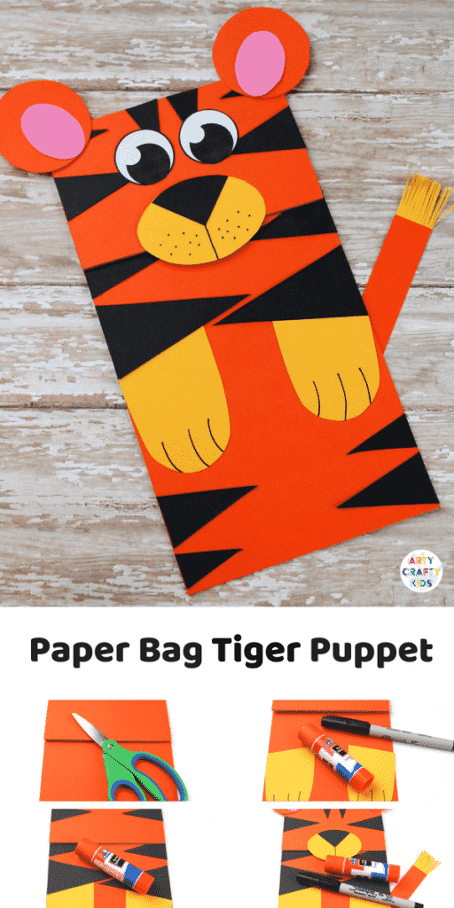 Arty Crafty Kids Craft Ideas For Kids Paper Bag Tiger Craft A
