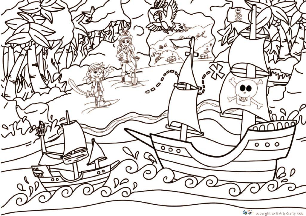 Pirate Ship Arty Crafty Kids