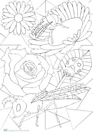 thumbnail of Stained Glass Bug Template 1