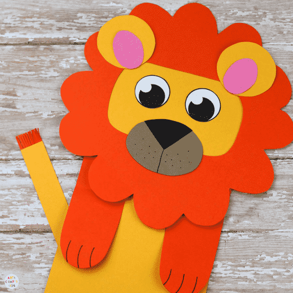 Paper Bag Lion Puppet Arty Crafty Kids