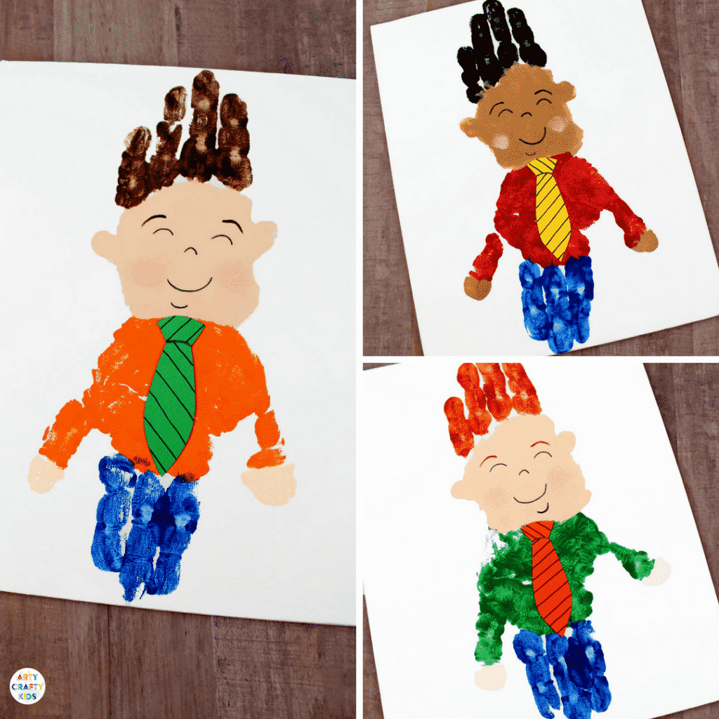 Arty Crafty Kids | Handprint Art for Kids | Hanprint Fathers Day Art #fathersday #fathersdayprojectsforkids #fathersdaycardsforkids #kidsfathersdayart #kidsfathersdaycraft