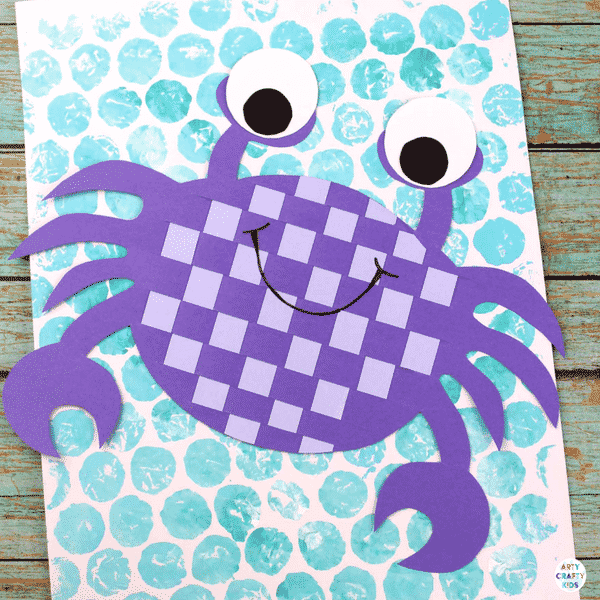 Easy Woven Crab Craft Arty Crafty Kids
