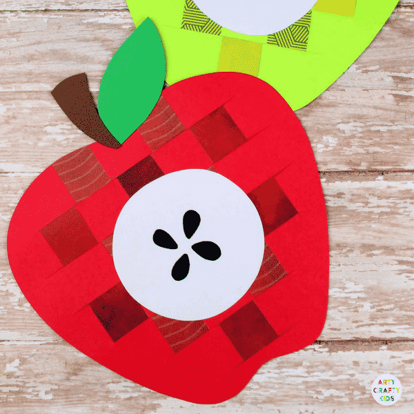 Paper Apple Weaving Craft Arty Crafty Kids