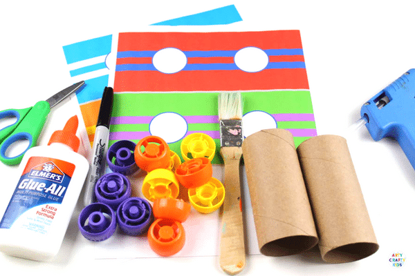 Paper Tube Race Cars - Craft Ideas for Kids - A cool car craft for kids using the humble toilet tube! #kidscraft