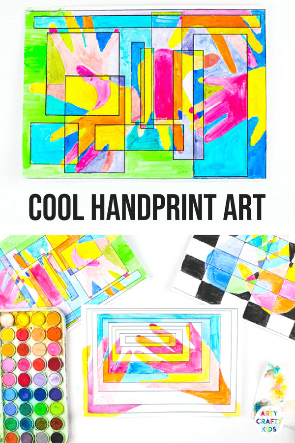 Arty Crafty Kids | Art Ideas for Kids | Cool Handprint Art, exploring warm and cool shades. Great for basic colour-mixing! #artforkids #kidsart #artclass