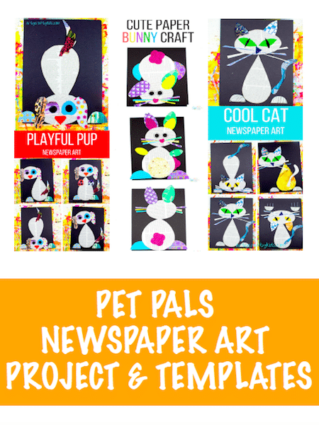 Arty Crafty Kids - Pet Pals Newspaper Art Project & Template Book