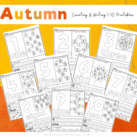 Autumn-Counting-and-Writing-1-10-Printables