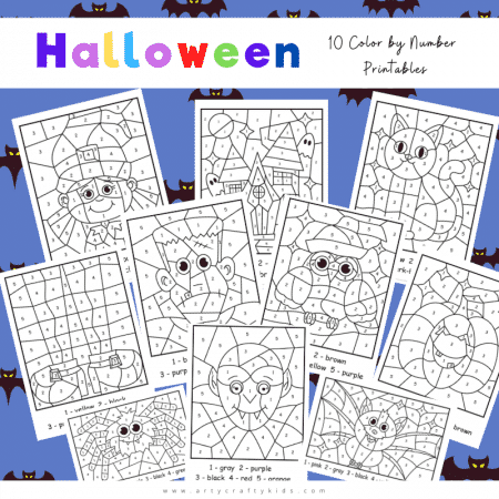 Halloween-Color-By-Number-Worksheets--2