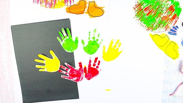 Arty Crafty Kids   Big Hand Paper Monster Craft - Add your Arty Crafty Kids handprint to create a moving grooving Big Hand Monster! A fun and playful monster craft for Halloween, with a choice of 4 monster templates.