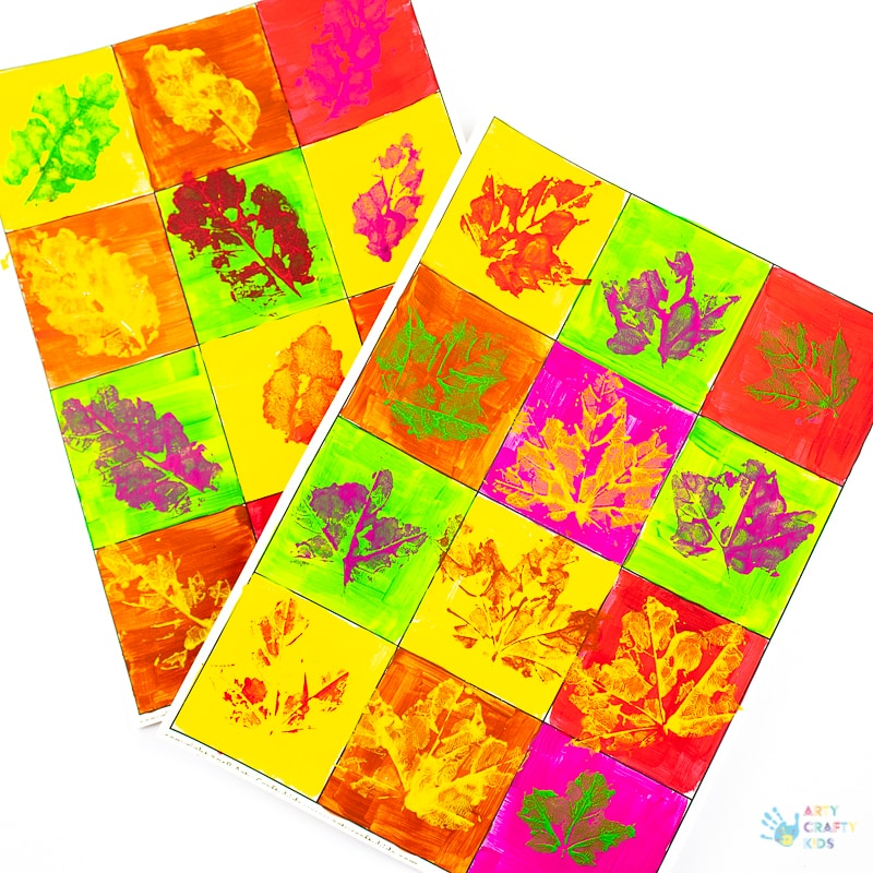 Autumn Leaf Pop Art Arty Crafty Kids