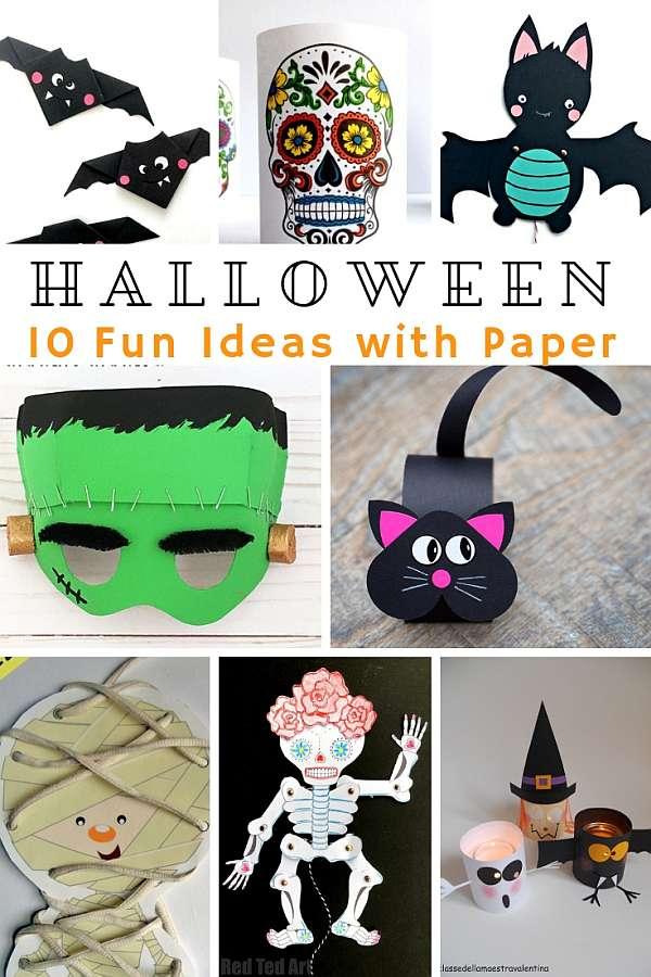 Arty Crafty Kids - Fun Paper Halloween Crafts for Kids #halloweencraft #kidscrafts #halloween #papercrafts
