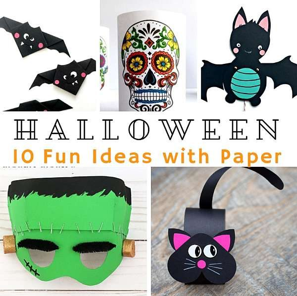 Arty Crafty Kids - Fun Paper Halloween Crafts for Kids #halloweencraft #kidscrafts #halloween #papercrafts