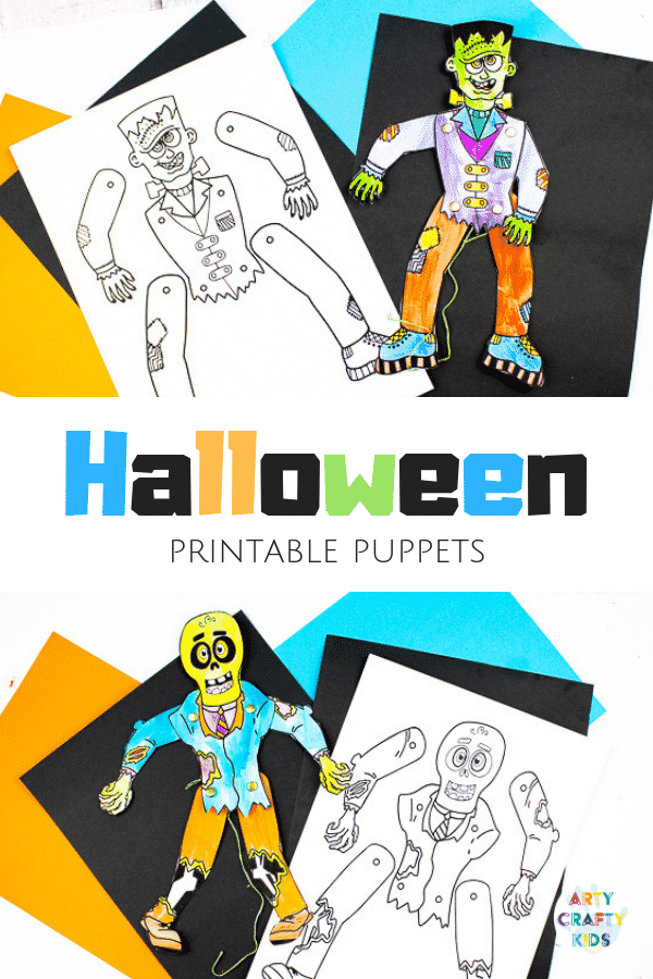 picture relating to Halloween Printable known as Halloween Printable Puppets Arty Cunning Small children