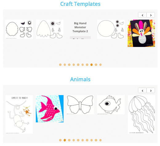 Arty Crafty Kids Club Templates