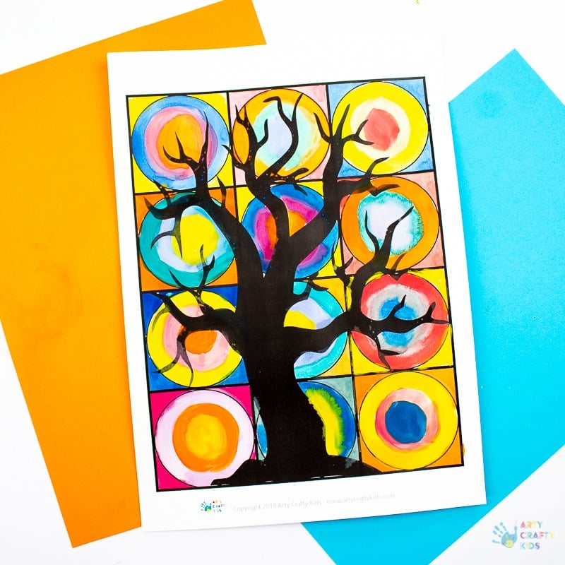 Spooky Tree Kandinsky Inspired Circle Art Arty Crafty Kids