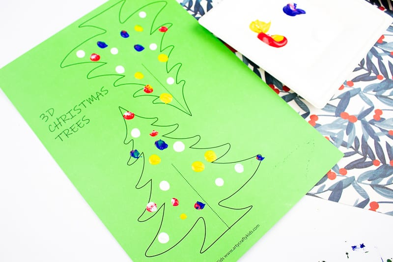 Arty Crafty Kids 3d Printable Christmas Tree Craft A Fun Paper