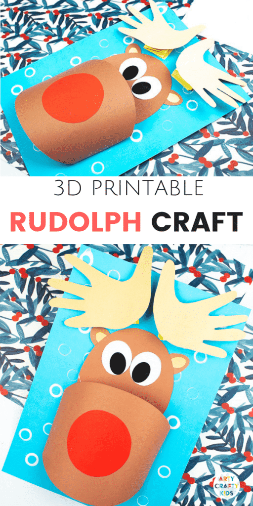 image relating to Pin the Nose on Rudolph Printable named 3D Printable Rudolph Craft Arty Cunning Youngsters