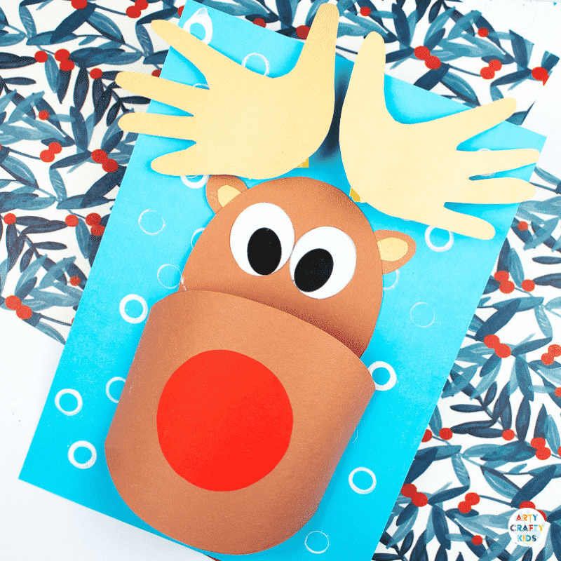 picture regarding Pin the Nose on Rudolph Printable called 3D Printable Rudolph Craft Arty Cunning Children
