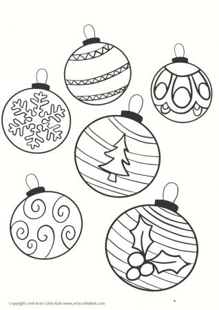 Christmas Baubles To Colour In - zi-thelifeofamusicqueen