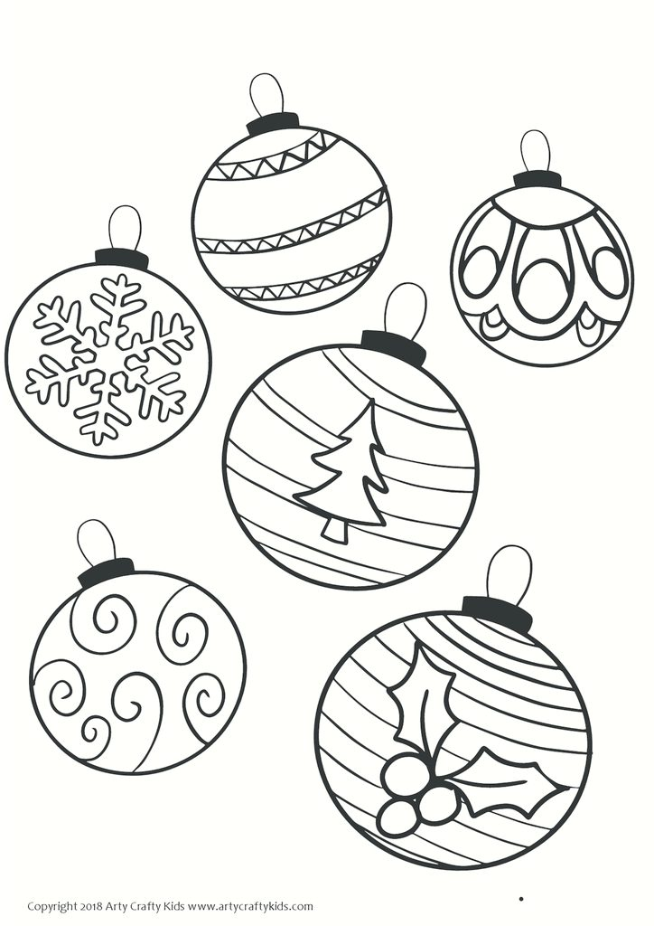 coloring pages christmas baubles - photo#6
