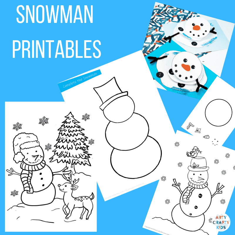 photograph relating to Printable Snowman Picture known as Printable Snowman Pursuits Arty Cunning Little ones