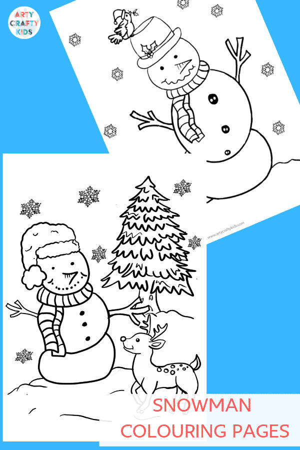 Arty Crafty Kids | Printable Snowman Activities - Download Snowman Colouring Pages, drawing prompts and craft templates from the Arty Crafty Kids Club! #printable #downloads #wintercrafts #christmascrafts #kidscrafts