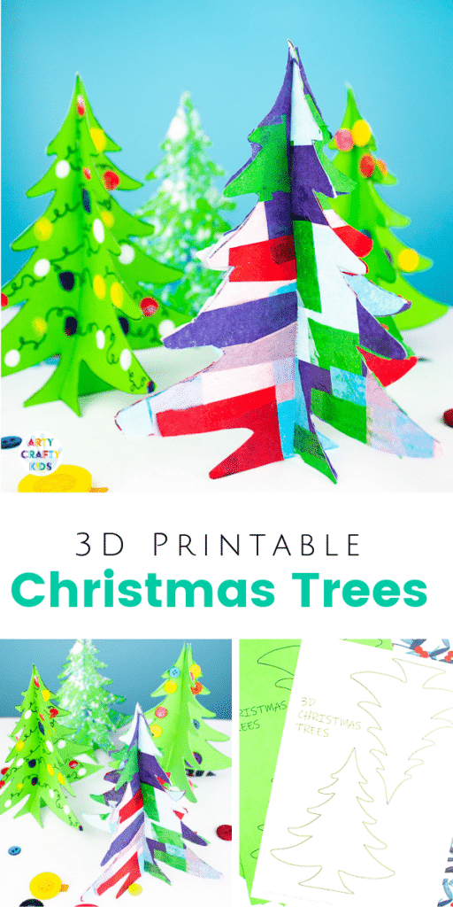 picture relating to Printable Christmas Tree named 3D Printable Xmas Tree Craft Arty Cunning Youngsters