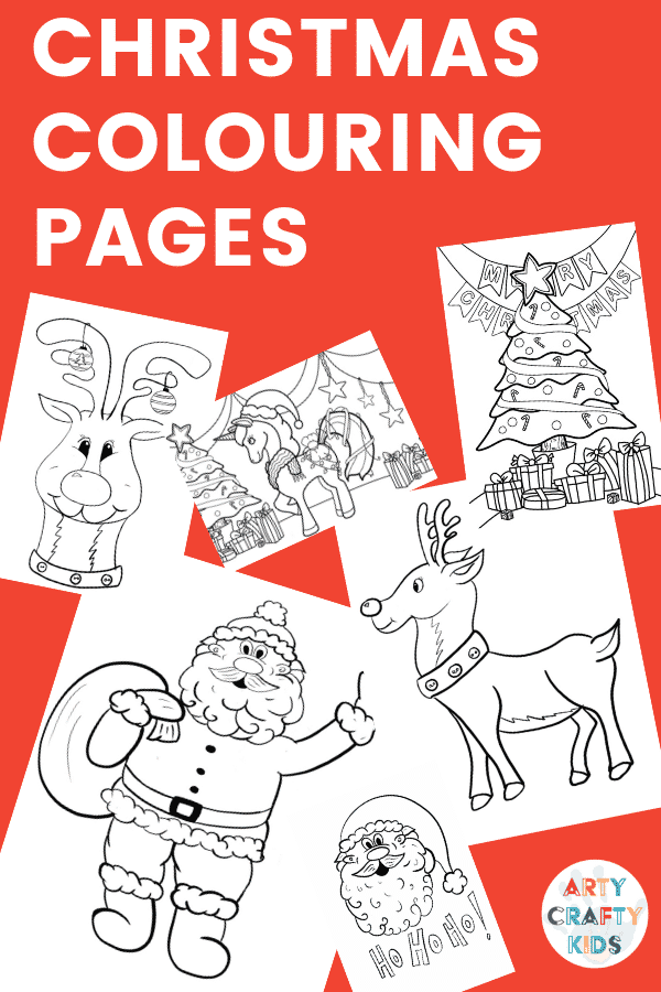 Arty Crafty Kids | Children's Christmas Colouring Pages #printable #kidscolouring #coloringpages