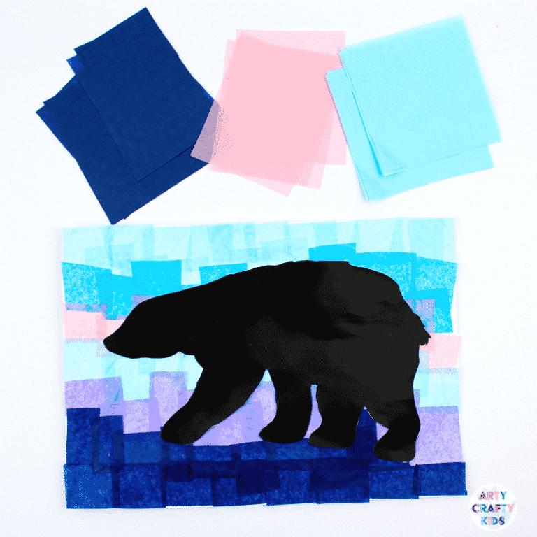 Arty Crafty Kids | Polar Bear Winter Art for Kids