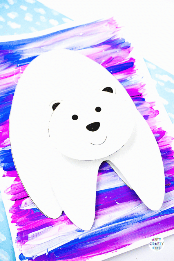 Learn how to make a 3D Polar Bear: Whether you're looking for a winter-themed craft, or one to support a Winter school project, this cheerful friendly polar bear is guaranteed to bring a smile to children's faces. And it's a great way to demonstrate that there are different ways to create depth! Kids will love building the bear's body up and watching him grow – then making him pop even more with a colorful, contrasting textured background.
