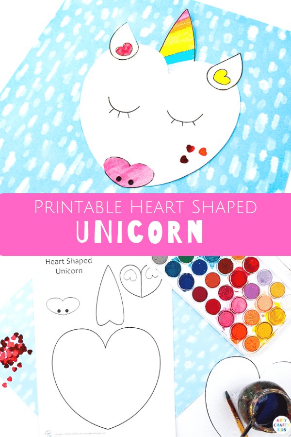 Heart Shaped Unicorn Craft