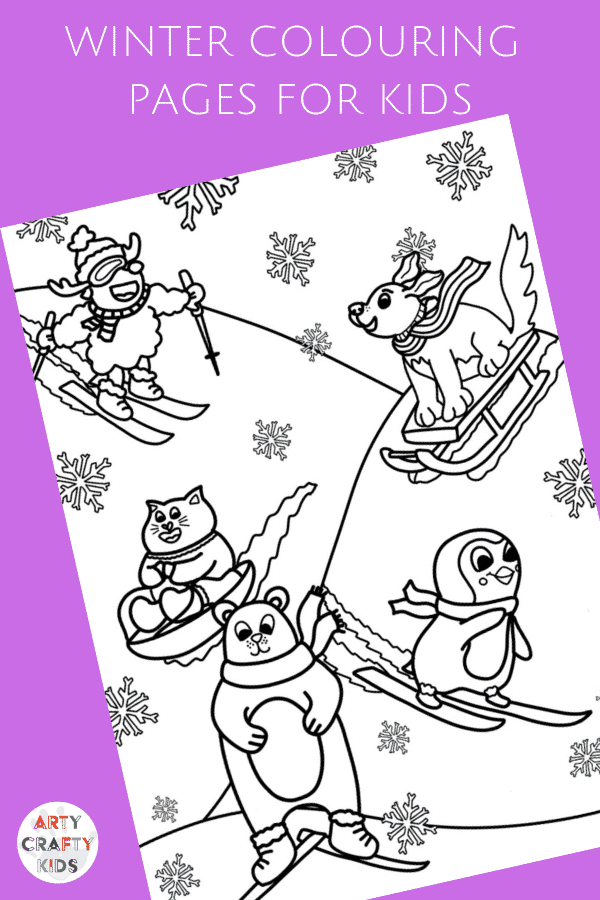 Arty Crafty Kids | A playful collection of Winter Colouring Pages for Kids! #kidscolouring #colouringpages #printables #artycraftykids