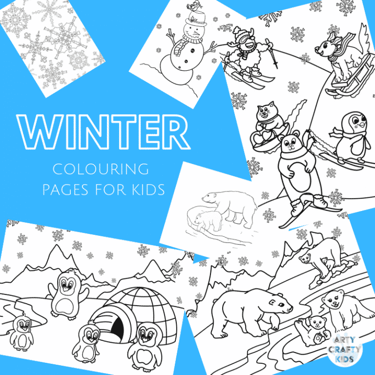 Arty Crafty Kids   A playful collection of Winter Colouring Pages for Kids! #kidscolouring #colouringpages #printables #artycraftykids