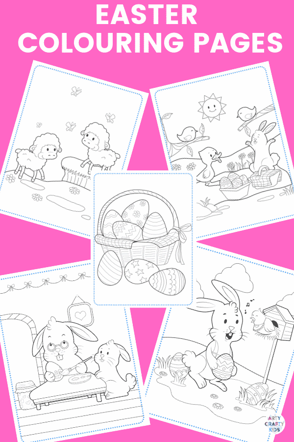 Arty Crafty Kids | The Easter Colouring and Activity Book. This printable 25 page NO-PREP Easter Activity Booklet will have your Arty Crafty Kids colouring, counting and practising their tracing skills.