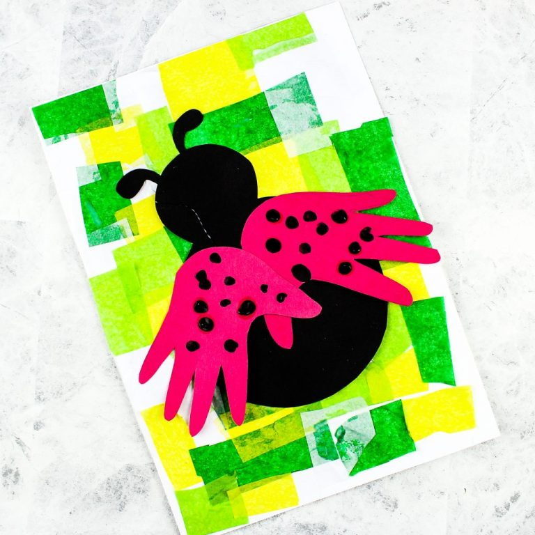 Arty Crafty Kids   Handprint Ladybug Craft - a simple bug art and craft idea for kids to enjoy as part of a minibeast topic. Simply download and print the ladybug printable template to get started!