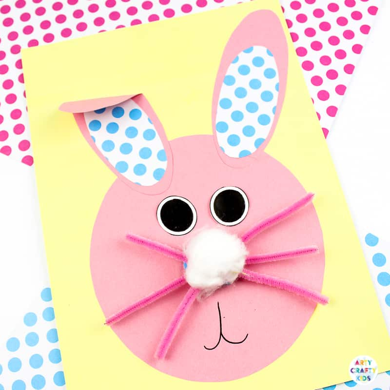 Bobble Nose Paper Easter Bunny Craft Arty Crafty Kids