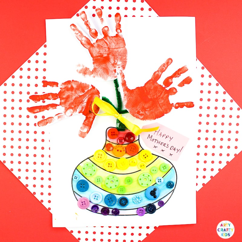 Mother S Day Handprint Flower Craft Arty Crafty Kids