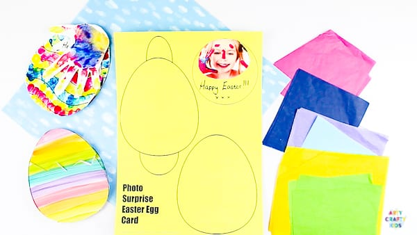 Arty Crafty Kids | How to make a Kid-Made Easter card. Complete with Easter Egg templates!