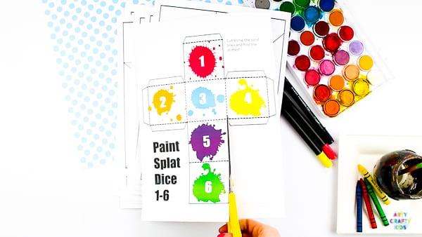 Arty Crafty Kids | Paint Splat Printable Dice