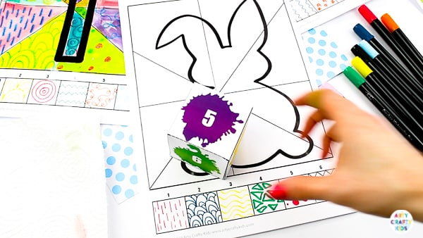 Arty Crafty Kids | Roll the Dice, Draw & Colour Kids Easter Activity - A fun, engaging and creative art idea for kids, with a choice of 5 Printable Easter Templates.