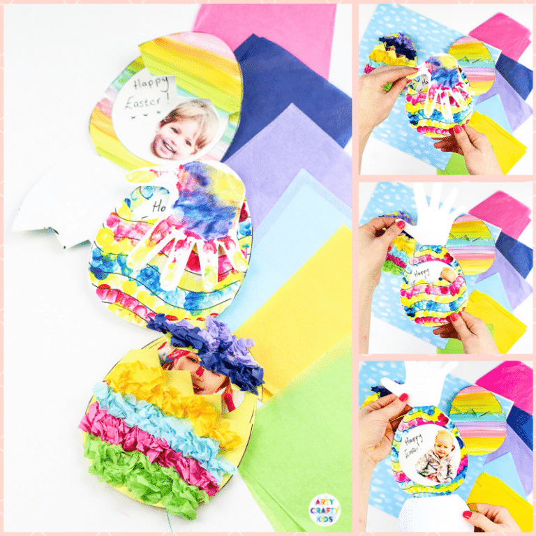 Arty Crafty Kids | Photo Surprise Easter Egg - A personalised Easter Egg Card for Kids to make! Complete with a printable Easter Egg Templates.