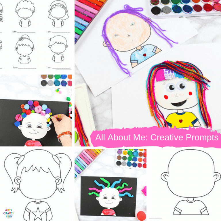 The All About Me book is filled with fun drawing activities for kids that focuses on self portraiture, emotions, drawing facial features, clothing design and crazy hair play. The book consists of 7 printable templates to be used at home or within lesson plans.