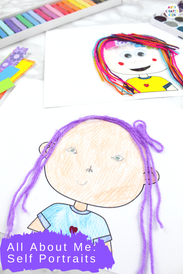Self Portrait Drawing for Kids - Use this All About Me Self Portrait printable template at the start or end of the school year.